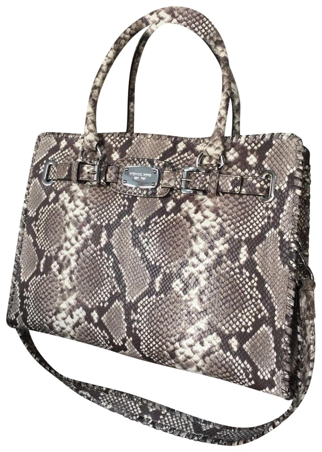 f852b0b7288a ... ireland michael kors tech large animal print embossed tote in snakeskin  5b060 77f53