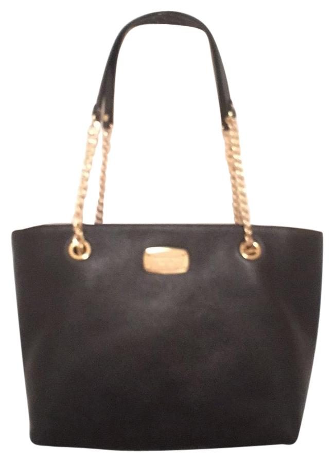 02f7fad992f9 netherlands michael kors shoulder purse handbag tote designer satchel in  black gold c3098 3d00f