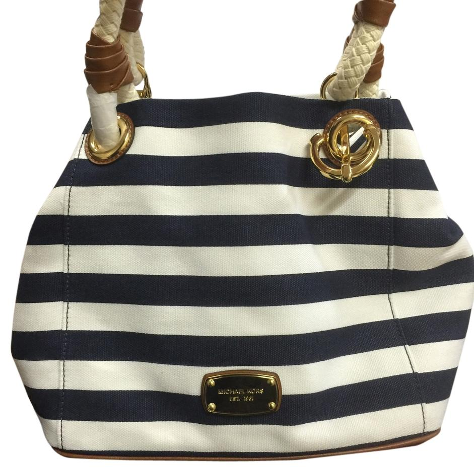 2c03625be88a ... bag blue center stripe 38s8xijt8v aa158 0643d; italy michael kors tote  in blue white 9b6f5 a6cd0