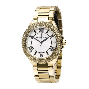 Michael Kors NIB MICHAEL KORS CAMILLE WHITE GLITZ DIAL GOLD STEEL WATCH MK3277