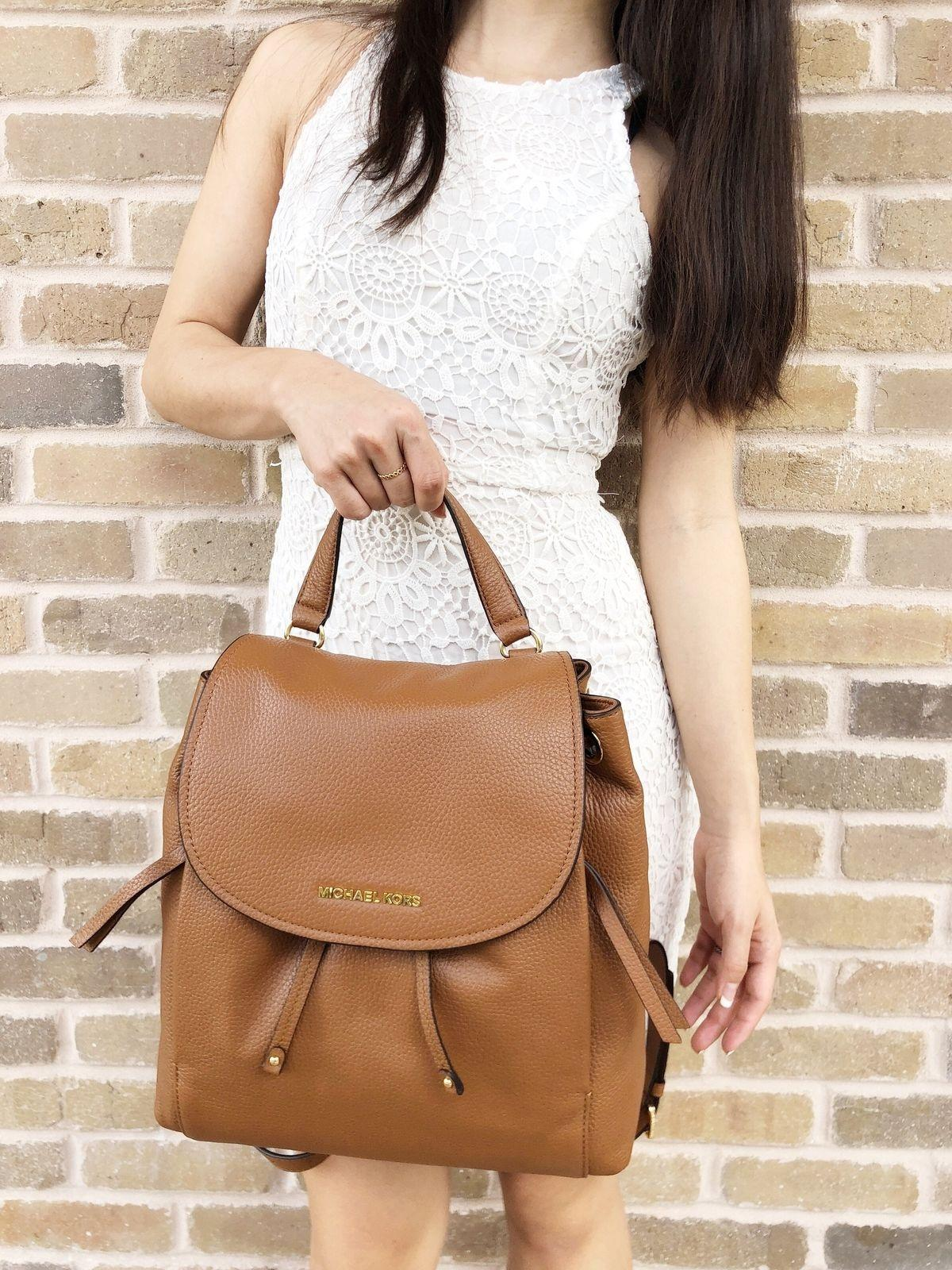e398d5091a3b76 ... best price michael kors riley large luggage brown leather backpack  tradesy 2009a 137b5