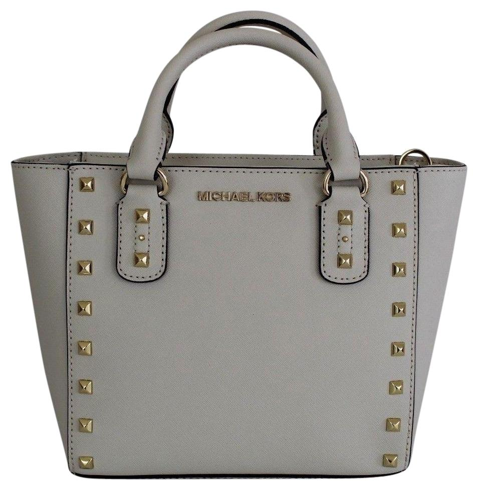 6460bb9b2f07 ... crossbody ecru python leather embossed 194b3 a4bc0 coupon for michael  kors satchel in ecru gold 24f4d abf71 ...
