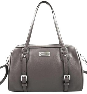 Michael Kors Leather Bedford Crossbody Satchel in Gray