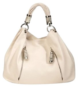 Michael Kors Tonne Hobo Bag Satchel in Cream