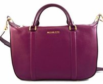 Michael Kors Raven Leather Satchel in Red