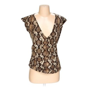 Michael Kors Shirt Blouse Top Brown