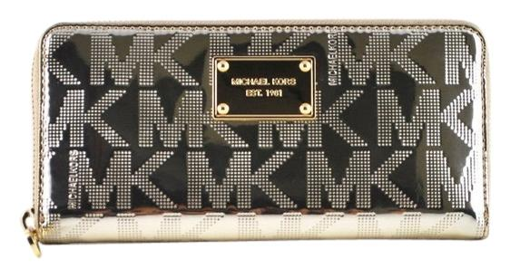 94670bcc2ac1 ... where to buy michael kors mk signature mirror metallic wallet 1141b  04e2b