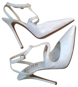 Michael Kors Snakeskin Leather Spring Summer Bone White Pumps