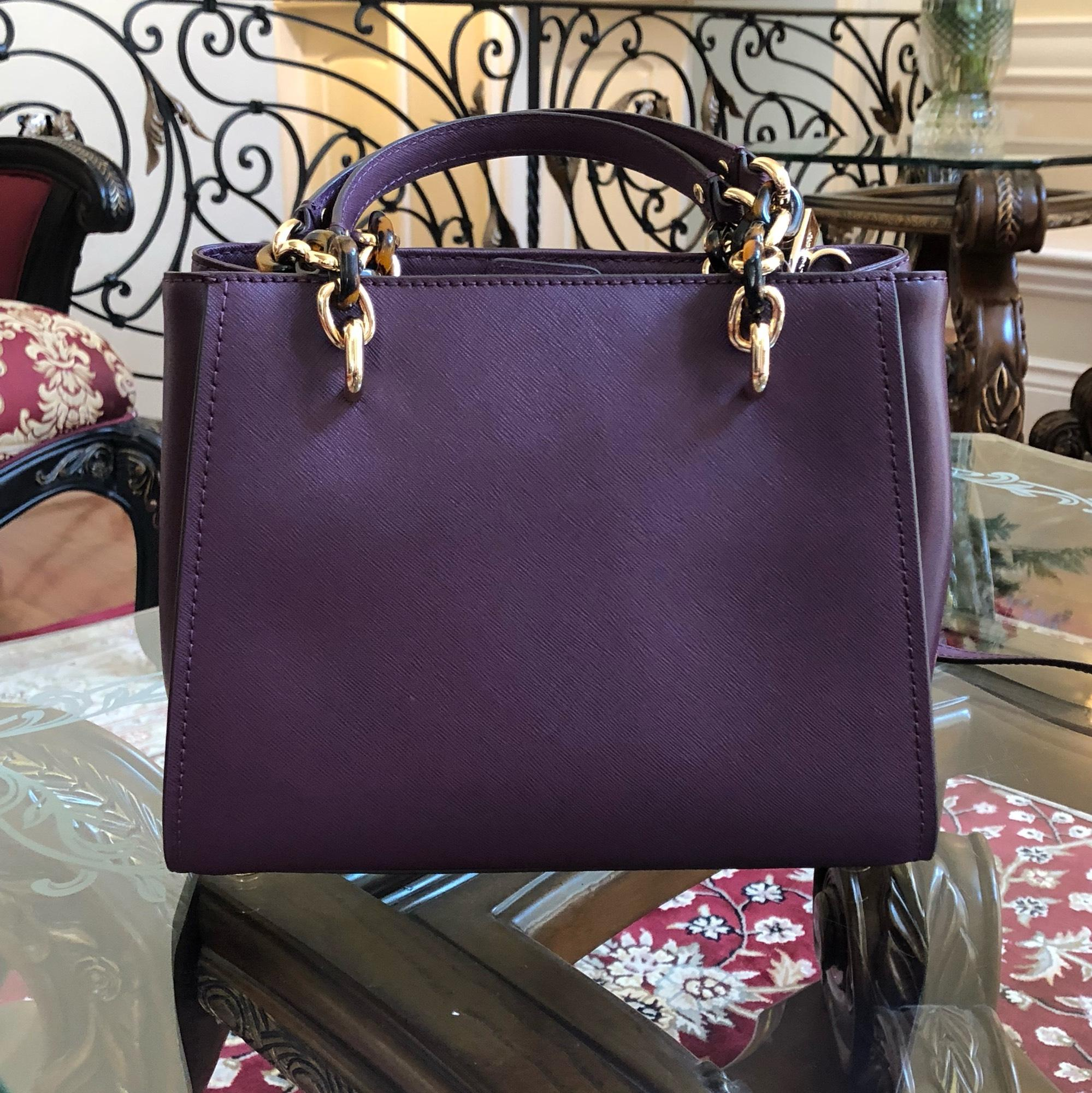 2d110bea3405 ... france michael kors medium chain md ns tote in damson. 12345678910  c4209 eafdb