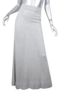 Michael Kors Womens Lightweight Knit Straight Sheath Maxi Skirt Gray