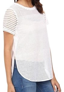 Michael Kors T-shirt Lace Casual Cotton Short Sleeve Top White