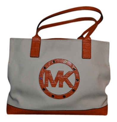 cab4a5b73a23 where to buy michael kors tote tangerine canvas d8ab2 f0496
