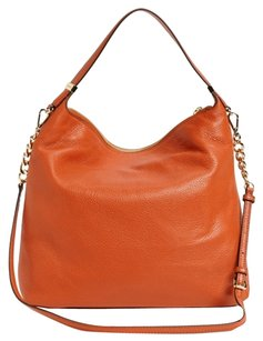 Michael Kors Weston Satchel in Burnt Orange