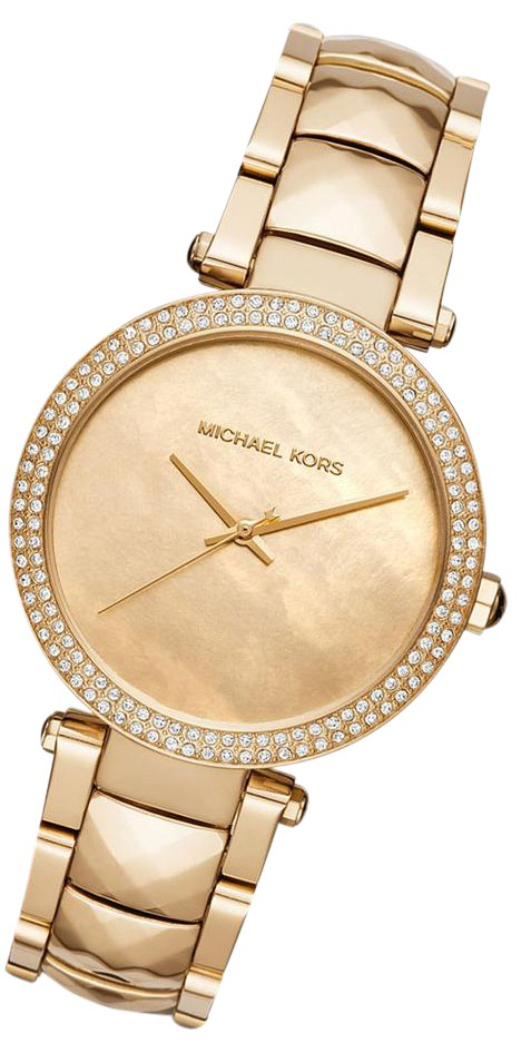 Michael Kors Yellow Gold New Lady Parker Rose Mop Dial Mk6425 Watch