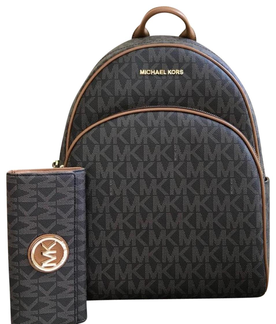 79570b73c989 clearance michael michael kors mk flap wallet ee90c decd3; where to buy michael  michael kors bookbag monogram signature mk backpack 77efc d86db