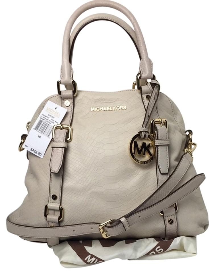 548b1e394a43 ... netherlands michael michael kors satchel in dove white 45466 37a3b