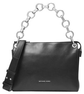 MICHAEL Michael Kors Black/Silver Messenger Bag