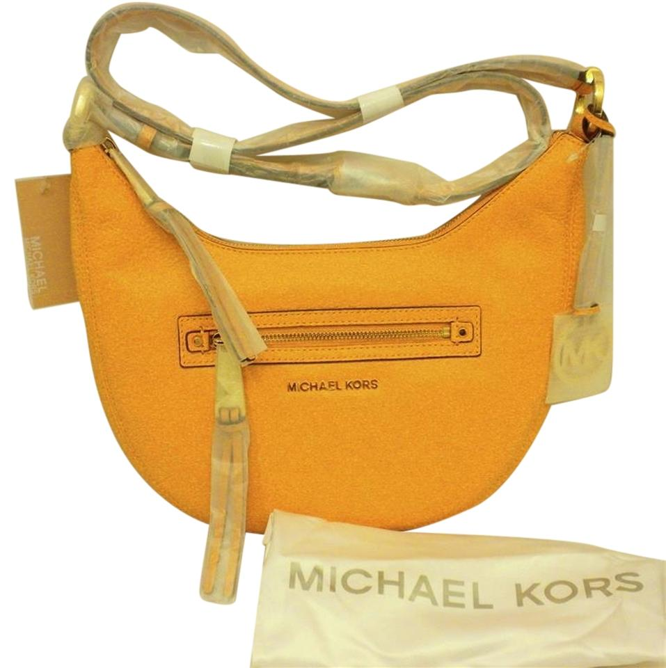 MICHAEL Michael Kors Mk Rhea Leather Mk Leather Sun (orange yellow/ school  bus yellow ...