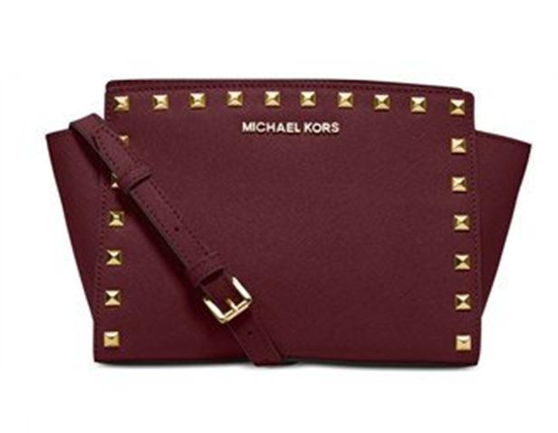 b8d2b89cca78 ireland medium messenger michael michael kors selma studded messenger cross  body bag . d8c4f 23045