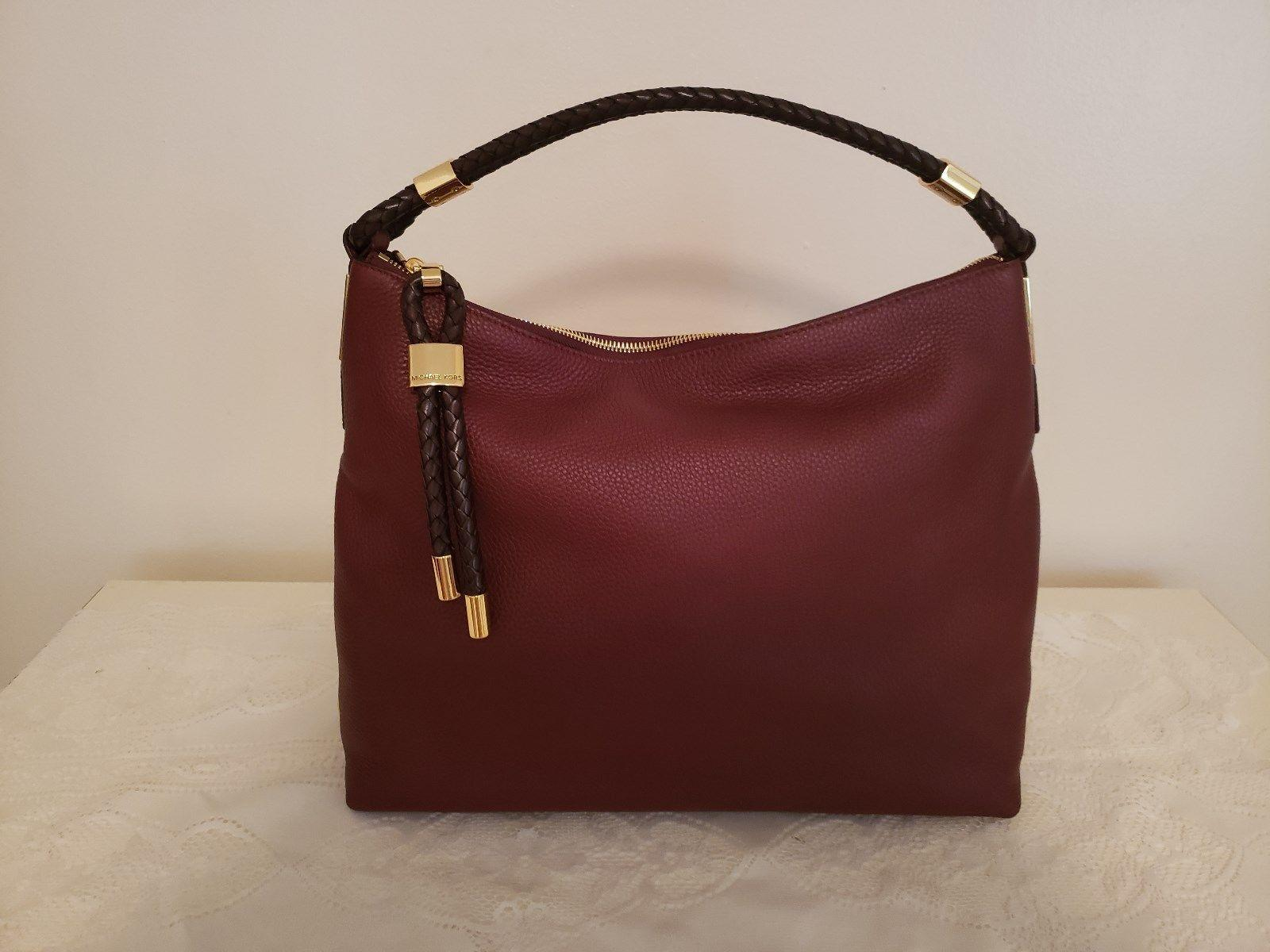 3957e4a3da9f ... new arrivals michael michael kors skorpios merlot leather shoulder bag  tradesy 18600 14e11