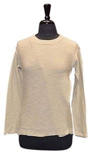 Michael Stars B2 Parchment Cotton Slub Cross Over Crewneck Sweater