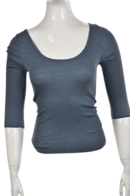 476587c5df4 durable modeling Michael Stars Womens Blue Knit Top One Speckled Metallic  Shirt