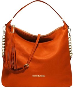 Michael Kors Handbag Pebbled Leather Stylish Leather Shoulder Bag