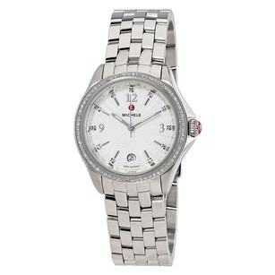 Michele MICHELE Belmore White Textured Dial Ladies Watch MWW29A000005