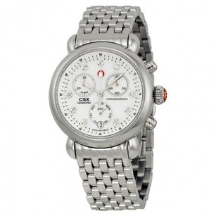 Michele MICHELE CSX White Mop Diamond Dial Chronograph Ladies Watch