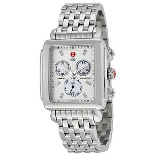 Michele Michele Deco Diamond Chronograph Mother Of Pearl Stainless Steel Ladies Watch