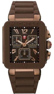 Michele Michele Park Jelly Bean Brown Silicone Chronograph Ladies Watch