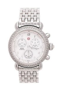 Michele Michele Stainless Steel Diamond Csx Chronograph Watch