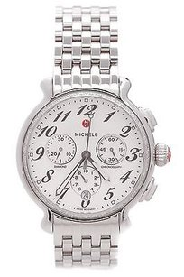 Michele Michele Stainless Steel Diamond Fluette Chronograph Watch