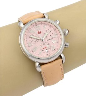 Michele Michele Urban Chronograph Round Pink Dial Watch
