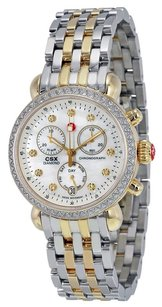 Michele MWW03M000158 CSX 36 Mother of Pearl Diamond Dial Two-tone Ladies Watch