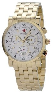 Michele SPORT SAIL WHITE DIAL GOLD TONE CHRONOGRAPH WATCH