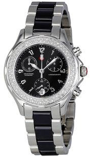Michele Tahitian Ceramic Stainless Steel Black Diamond Watch