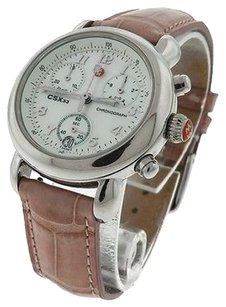 Michele Womens Michele Csx Mww03c000125 Stainless Steel Mop Chronograph Watch