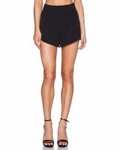 MILLY Italian Cady Petal 0 220149f Dress Shorts Black