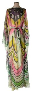 Milly of New York Silk Draped Floral Flowy Print Dress