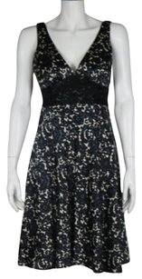 MILLY Womens Floral Party Knee Length Sleeveless Sheath Dress