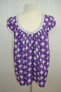 MILLY Orchid White Top Purple