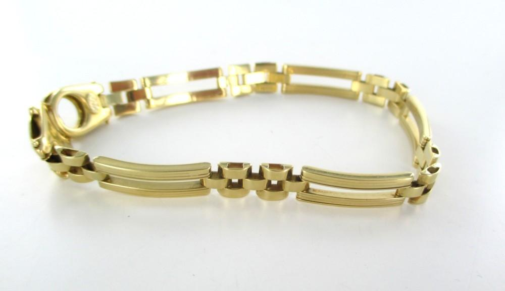 Milor Gold 18kt Solid Yellow Curved Design Link Hallmark Italy