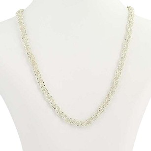 Milor Milor Braided Popcorn Chain Necklace 18 - Sterling Silver Italian