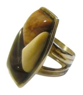 Mine Finds by Jay King Jay King .925 Sterling Silver Petrified Wood Gemstone Ring Size 7