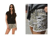 MINKPINK Coachella Festival Summer Cut Off Shorts Leopard Destroy