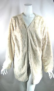 MINKPINK Mink Pink Faux Fur Long Ivory Jacket