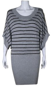 MINKPINK short dress Black Womens Gray Sweater Cotton Top Above Knee Batwing on Tradesy