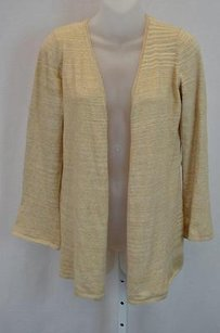 Minnie Rose Camel Open Front Cardigan Tonal Stripe 100132 Sweater