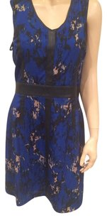Miss Sixty short dress Blue Black Beige on Tradesy